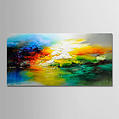 cheap -Oil Painting Hand Painted - Abstract Holiday Modern Rolled Canvas