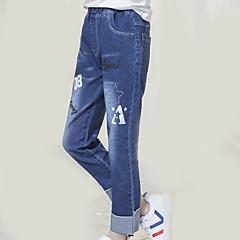 baratos Roupas de Meninas-Infantil Para Meninas Estampado Jeans