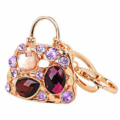 baratos Chaveiros-Chaveiro Dourado Irregular Resina, Imitações de Diamante, Liga Decorada com Pedrarias / Strass, Fashion Para Presente / Diário