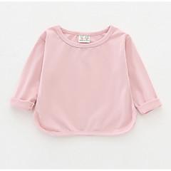 billige Babyoverdele-Baby Pige Ensfarvet Langærmet T-shirt