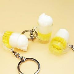 baratos Chaveiros-copo Chaveiro Amarelo Irregular Resina, Liga Simples, Fashion Para Diário / Rua