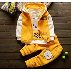 povoljno Odjeća za bebe Za dječake-Dijete Dječaci Vintage Dnevno Jednobojni / Geometrijski oblici Dugih rukava Regularna Lan / Poliester Komplet odjeće Plava / Dijete koje je tek prohodalo