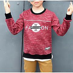 billige Hættetrøjer og sweatshirts til drenge-Børn Drenge Geometrisk Langærmet Hættetrøje og sweatshirt