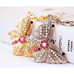 baratos Chaveiros-Borboleta Chaveiro Dourado / Prata Irregular Zircão, Liga Étnico, Colorido Para Diário / namorados