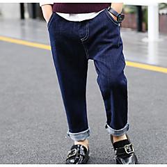 billige Drengebukser-Børn Drenge Basale Ensfarvet Jeans