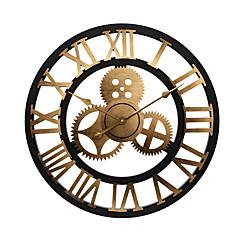"""رخيصةأون ساعات الحائط-ساعة الحائط,الحديث المعاصر تقليدي خشبي دائري في الأماكن المغلقة / في الهواء الطلق داخلي الخارج 24"""" x 24"""" (60cm x 60cm) 32"""" x 32"""" (80 x 80cm) 28""""x28"""""""