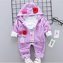 billige Babytøj-Baby Pige Ensfarvet Langærmet Tøjsæt