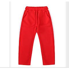 billige Bukser og leggings til piger-Børn Pige Basale Ensfarvet Patchwork Bomuld Bukser