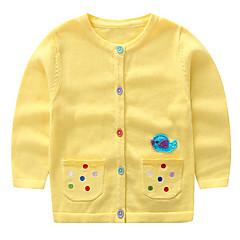 billige Sweaters og cardigans til piger-Baby Pige Trykt mønster Langærmet Trøje og cardigan