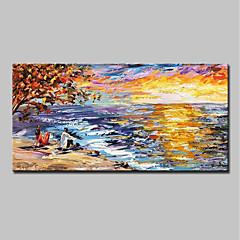 cheap -Mintura® Hand Painted Knife Oil Painting on Canvas Modern Abstract Landscape Wall Art Picture for Home Decoration Ready To Hang