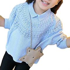 baratos Roupas de Meninas-Infantil Para Meninas Listrado Manga Longa Camisa