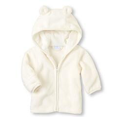 billige Jakker og frakker til piger-Baby Pige Ensfarvet Langærmet Jakke og frakke