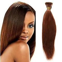 Χαμηλού Κόστους Εξτένσιος μαλλιών με ανταύγιες-1 δέσμη Ινδική Yaki Remy Τρίχα Υφάνσεις ανθρώπινα μαλλιών 10-20 inch Υφάνσεις ανθρώπινα μαλλιών Επεκτάσεις ανθρώπινα μαλλιών