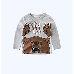 billige Gutteklær-Barn / Baby Gutt Trykt mønster Langermet T-skjorte
