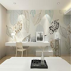 billige Tapet-bakgrunns / Veggmaleri Lerret Tapetsering - selvklebende nødvendig Trær / blader / Flise / Mønster