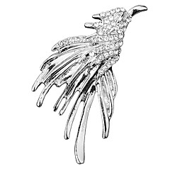 billige Motebrosjer-Herre Kubisk Zirkonium Elegant / Tenniskjede Nåler - Ørn, Kreativ Barokk, Mote, Britisk Brosje Gull / Sølv Til Bryllup / Fest