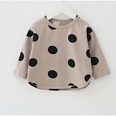 billige Babyoverdele-Baby Pige Prikker Langærmet T-shirt