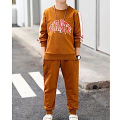 tanie Odzież dla chłopców-Dzieci Dla chłopców Podstawowy Sport Solidne kolory / Kolorowy blok Długi rękaw Bawełna Komplet odzieży