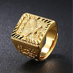 cheap Men's Jewelry-Men's Stylish Signet Ring - 18K Gold Eagle Fashion Jewelry Gold For Daily Evening Party Adjustable