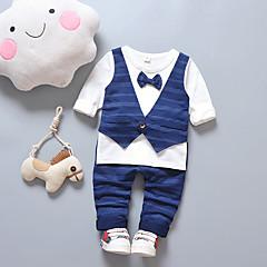 tanie Odzież dla chłopców-Dzieci Dla chłopców Jendolity kolor / Patchwork Długi rękaw Komplet odzieży