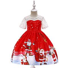 tanie Odzież dla dziewczynek-Dzieci / Brzdąc Dla dziewczynek Kreskówki Krótki rękaw Sukienka