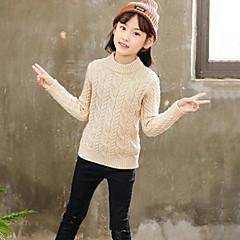 billige Sweaters og cardigans til piger-Børn Pige Ensfarvet / Jacquard Vævning Langærmet Trøje og cardigan