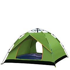 billige Telt og ly-TANXIANZHE® 4 personer Familie Camping Telt Automatisk Telt Ett Rom  utendørs Vindtett 2000-3000 mm  til Fisking Oxfordtøy 210*150*125/240*210*135 cm / Regn-sikker
