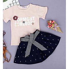 billige Tøjsæt til piger-Børn Pige Prikker Kortærmet Tøjsæt