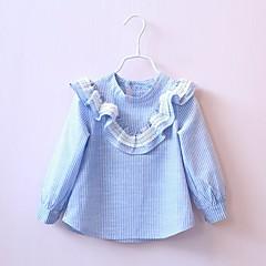 billige Pigetoppe-Børn / Baby Pige Stribet Langærmet Skjorte