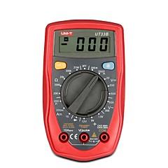 tanie Instrumenty elektryczne-uni-t ut33b auto zakres ręczny palm-rozmiar lcd cyfrowy multimetr ac dc ohm wolt tester miernik