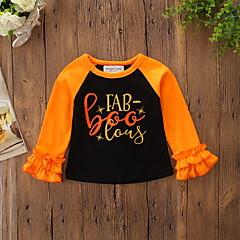 baratos Roupas de Meninas-bebê Para Meninas Estampado Manga Longa Camiseta