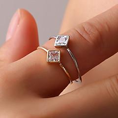 billige Motering-Dame Krystall Elegant Ring Tail Ring - Østerrisk krystall, Legering Kreativ Enkel, Geometrisk, Grunnleggende Gull / Sølv Til Daglig Ut på byen Klubb