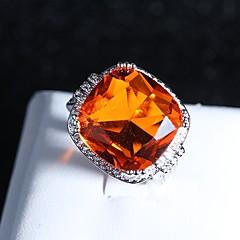 billige Motering-Dame Vintage Stil Statement Ring Ring - Platin Belagt Kreativ, Heldig Klassisk, Overdrivelse, Etnisk 6 / 7 / 8 / 9 / 10 Oransje Til Fest Festival