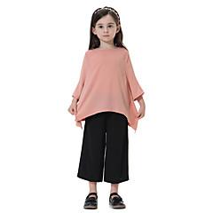 billige Tøjsæt til piger-Børn Pige Boheme Ensfarvet 3/4-ærmer Lang Tøjsæt