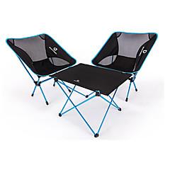 Χαμηλού Κόστους Έπιπλα Κατασκήνωσης-BEAR SYMBOL Πτυσσόμενη καρέκλα κάμπινγκ / Τραπέζι κάμπινγκ Εξωτερική Ελαφρύ, Αντιολισθητικό, Αναδιπλούμενο Oxford Πανί, 7075 Αλουμίνιο για Ψάρεμα / Κατασκήνωση Θαλασσί