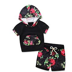 billige Babytøj-Baby Pige Blomstret Langærmet Tøjsæt