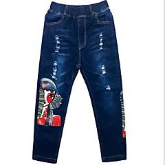 billige Jeans til drenge-Børn Drenge Trykt mønster Jeans
