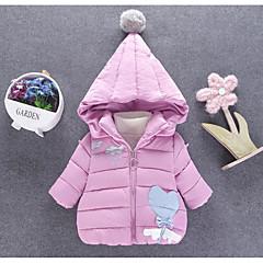 billige Overtøj til babyer-Baby Pige Trykt mønster Langærmet dun- og bomuldsforet