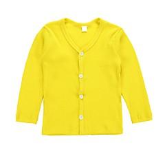 billige Sweaters og cardigans til piger-Baby Pige Ensfarvet / Stribet Langærmet Trøje og cardigan
