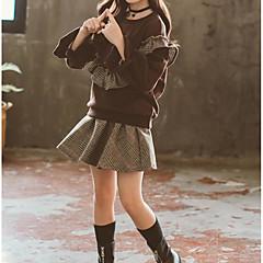 tanie Odzież dla dziewczynek-Dzieci Dla dziewczynek Kratka Długi rękaw Komplet odzieży