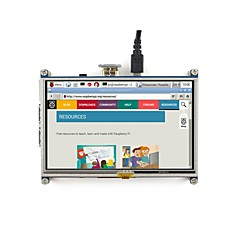 cheap -5 inch Resistive Touch Screen LCD, HDMI interface, Designed for Raspberry Pi Waveshare