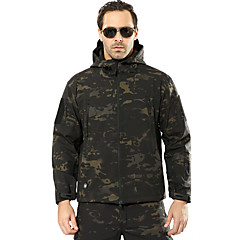 baratos Caça & Natureza-Jaqueta de Caçador / Jaqueta de Lã Fleece de Caçador Homens A Prova de Vento / Á Prova-de-Chuva camuflagem Jaquetas Softshell Manga Longa para