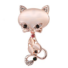 Women's Opal Classic Brooches - Cat Trendy, Cute Brooch Gold For Date / Festival