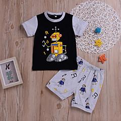 tanie Odzież dla chłopców-Dzieci / Brzdąc Dla chłopców Nadruk Krótki rękaw Komplet odzieży