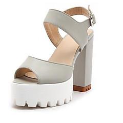 Női Kényelmes cipők Mikroszálas Nyár Szandálok Vaskosabb sarok Fekete    Szürke   Rózsaszín 71fdf33a63