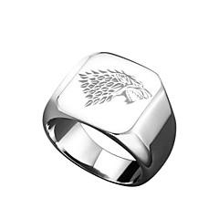 billige Motering-Herre Skulptur Band Ring - Titanium Stål Unikt design, Tegneserie, Militær 7 / 8 / 9 / 10 / 11 Gull / Svart / Sølv Til Gave Karneval