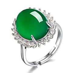 Χαμηλού Κόστους Μοδάτο Δαχτυλίδι-Γυναικεία Σμαραγδένιο Πεπαλαιωμένο Στυλ Πασιέντζα Ρυθμιζόμενο δαχτυλίδι - Κρεμαστό Βίντατζ, Κομψό Ρυθμιζόμενο Πράσινο Για Δώρο Φεστιβάλ