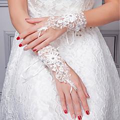 Χαμηλού Κόστους Γάντια για πάρτι-Δαντέλα Μέχρι τον καρπό Γάντι Γάντια Με Διακοσμητικά Επιράμματα