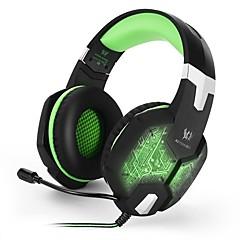 billiga Headsets och hörlurar-KOTION EACH G1000 Headband Kabel Hörlurar Hörlurar / Hörlur PP+ABS Spel Hörlur mikrofon / Med volymkontroll headset