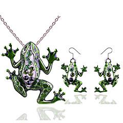 baratos Conjuntos de Bijuteria-Mulheres Zircônia Cubica Conjunto de jóias - Animal Importante, Estiloso, Na moda Incluir Brincos Compridos Colares com Pendentes Verde Para Presente Feriado